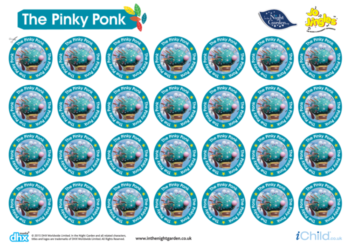 Thumbnail image for the In the Night Garden Sticker Sheet: The Pinky Ponk activity.