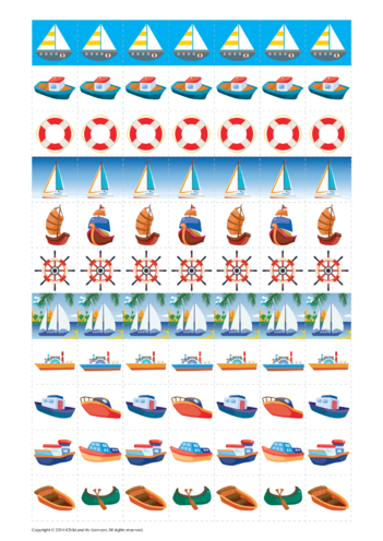 Thumbnail image for the Boat Reward Chart Stickers activity.