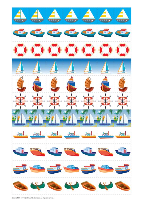 Boat Reward Chart Stickers