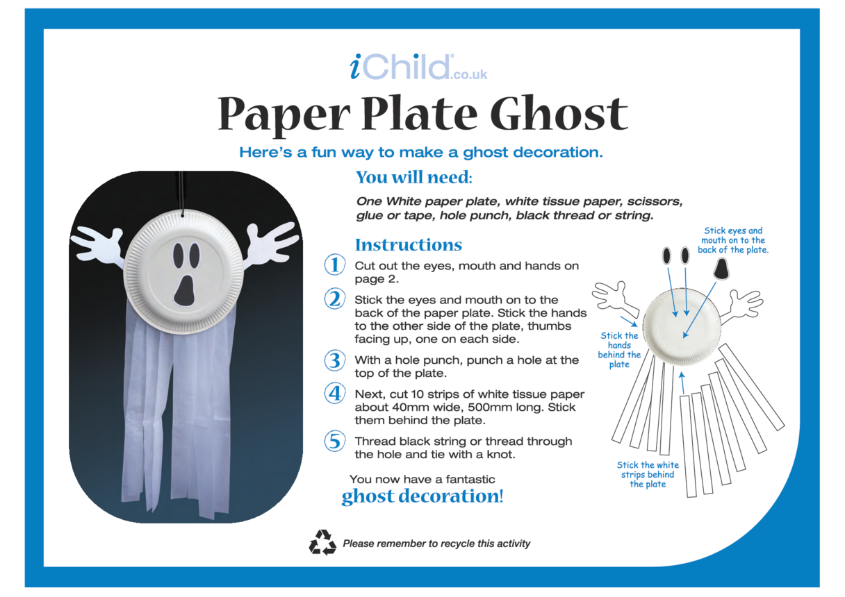 Ghost Paper Plate Craft