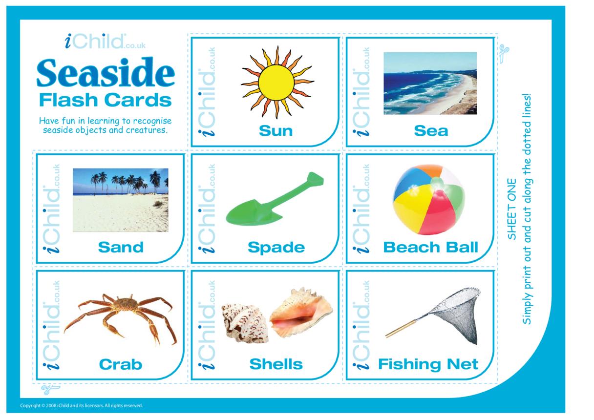 Seaside Flash Cards