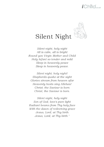 Thumbnail image for the Christmas Carol Lyrics: Silent Night activity.