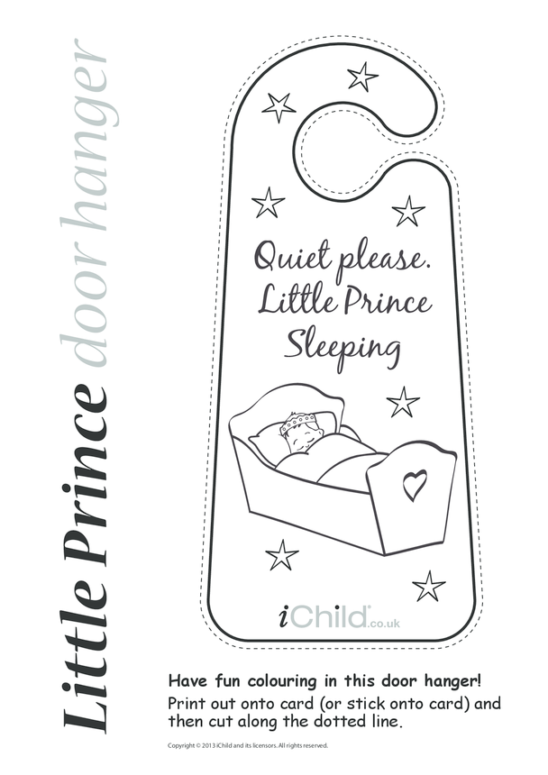 Little Prince Sleeping Door Hanger