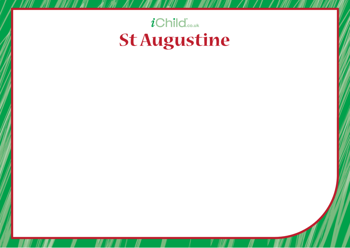 St. Augustine Blank Drawing Template