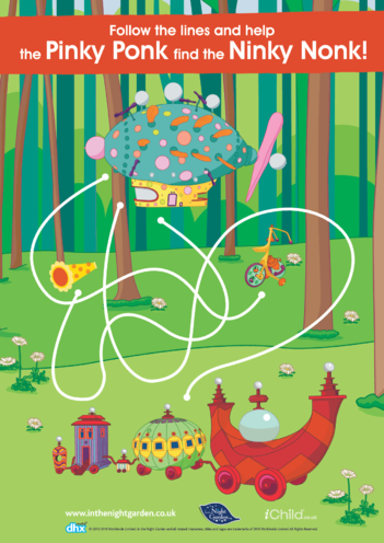 Thumbnail image for the In the Night Garden Maze activity.