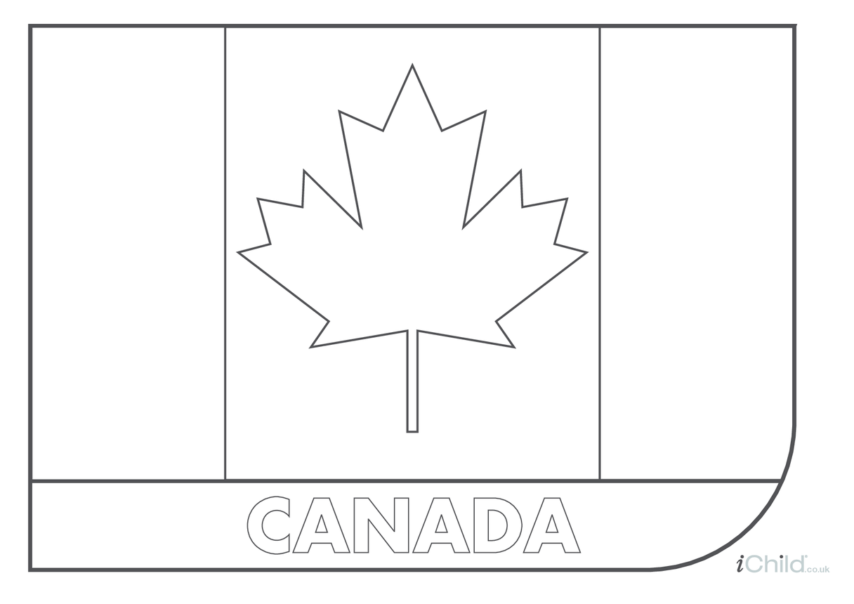 Canadian Flag Colouring in Picture (flag of Canada)