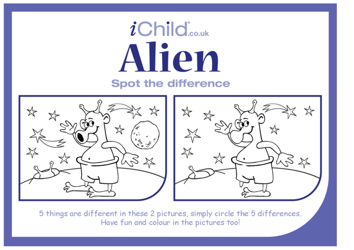 Thumbnail image for the Alien Spot the Difference activity.