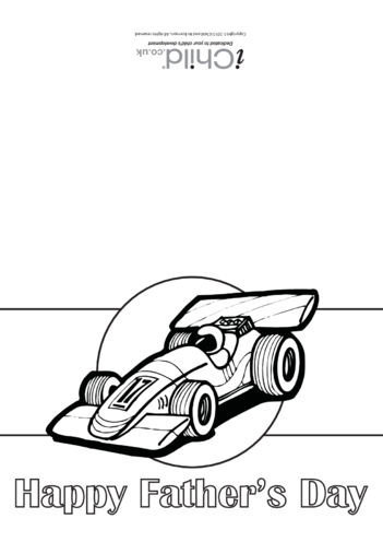 Thumbnail image for the Father's Day Card (Motor Racing) activity.