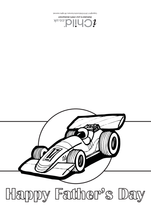 Father's Day Card (Motor Racing)