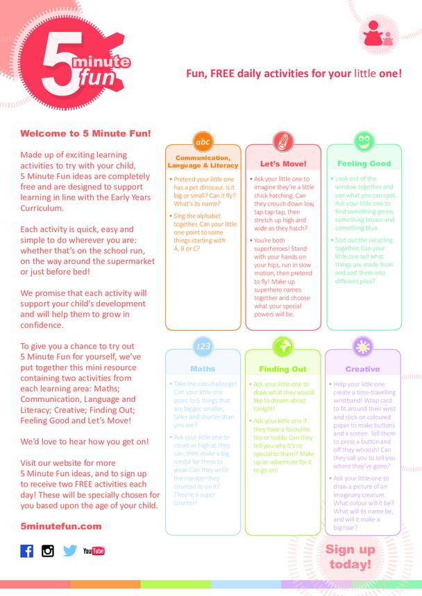 Mini Resource - 5 Minute Fun Ideas