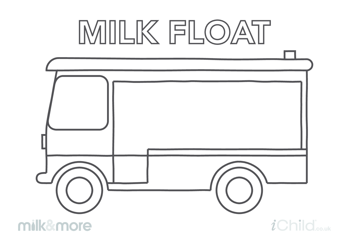 Milk Float Colouring in Picture