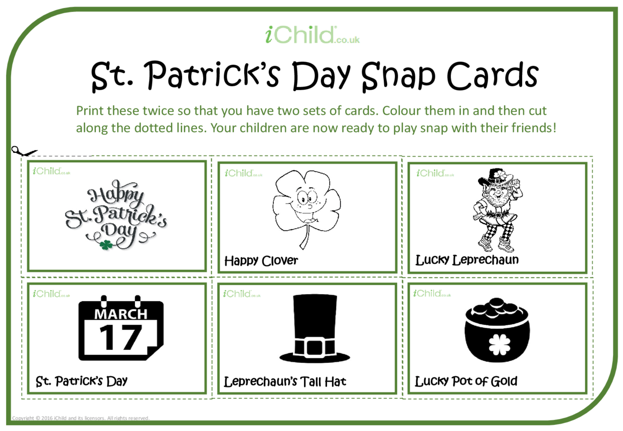St. Patrick's Day Snap Cards