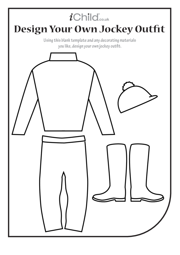 Decorate your own Jockey Outfit