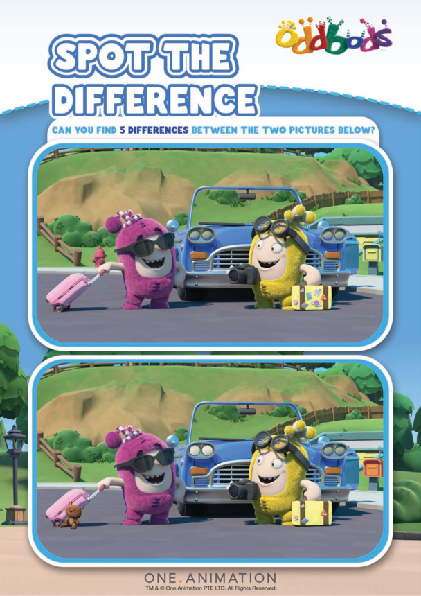 Spot the Difference 6 Oddbods