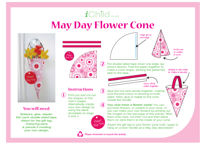 Thumbnail image for the Flower Cone Craft activity.
