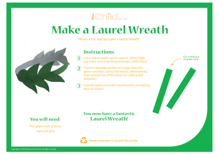 Thumbnail image for the Laurel Wreath Paralympic Games Craft activity.