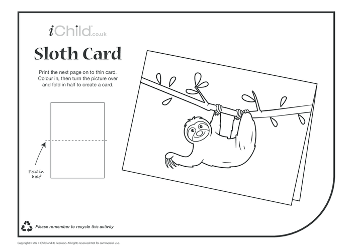 Thumbnail image for the Sloth Card activity.
