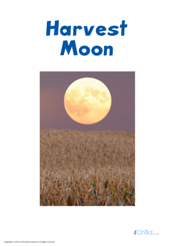 Thumbnail image for the Harvest Moon Poster activity.