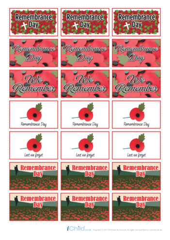 Thumbnail image for the Remembrance Day Large Sticker Sheet activity.