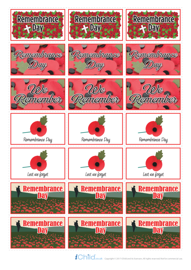 Remembrance Day Large Sticker Sheet