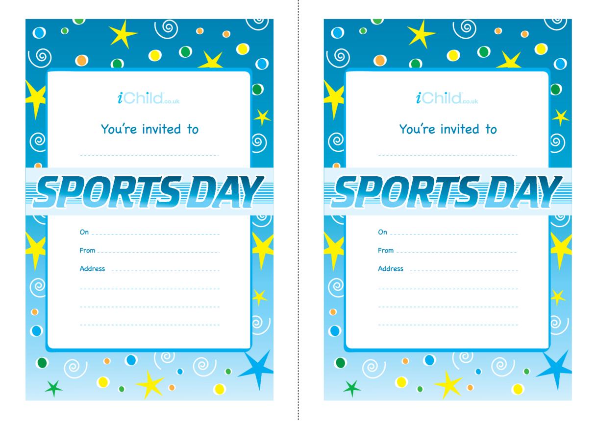 Sports Day Invitation Templates
