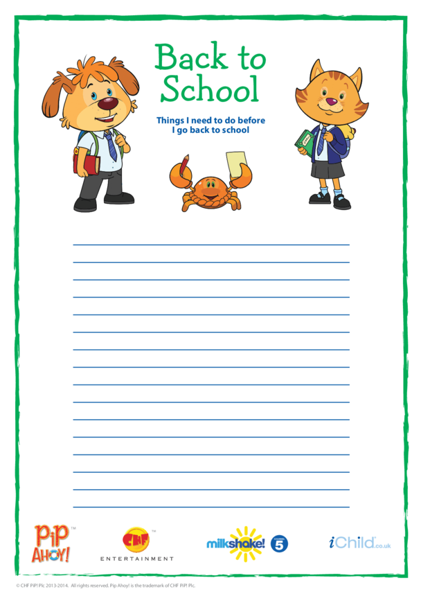 Back To School To Do List (Pip Ahoy!)