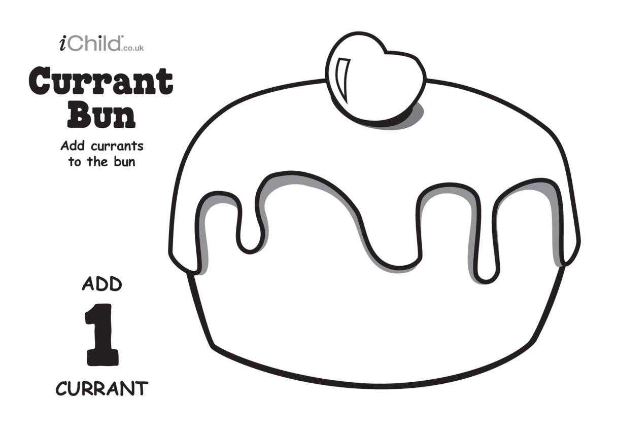 Play Dough Counting Mats: Currant Bun (black & white)