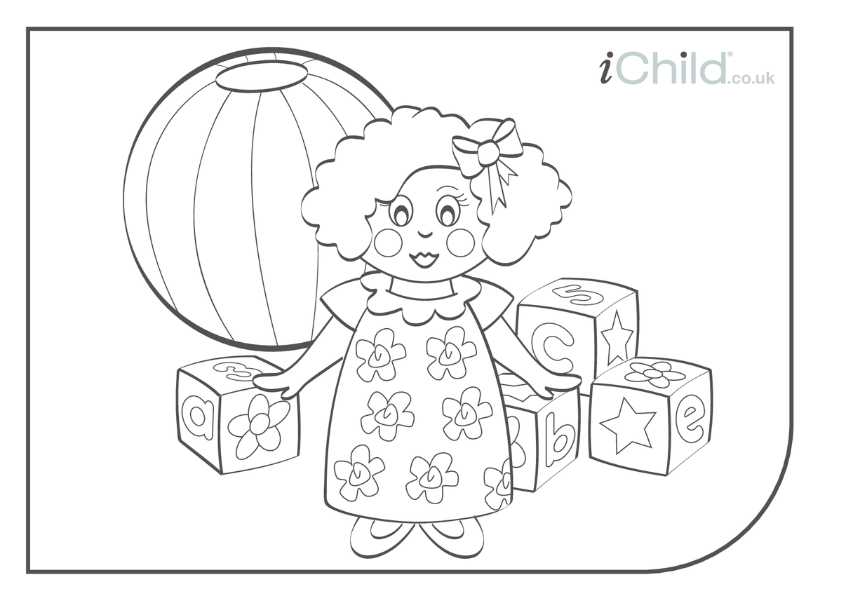 Doll Colouring in picture