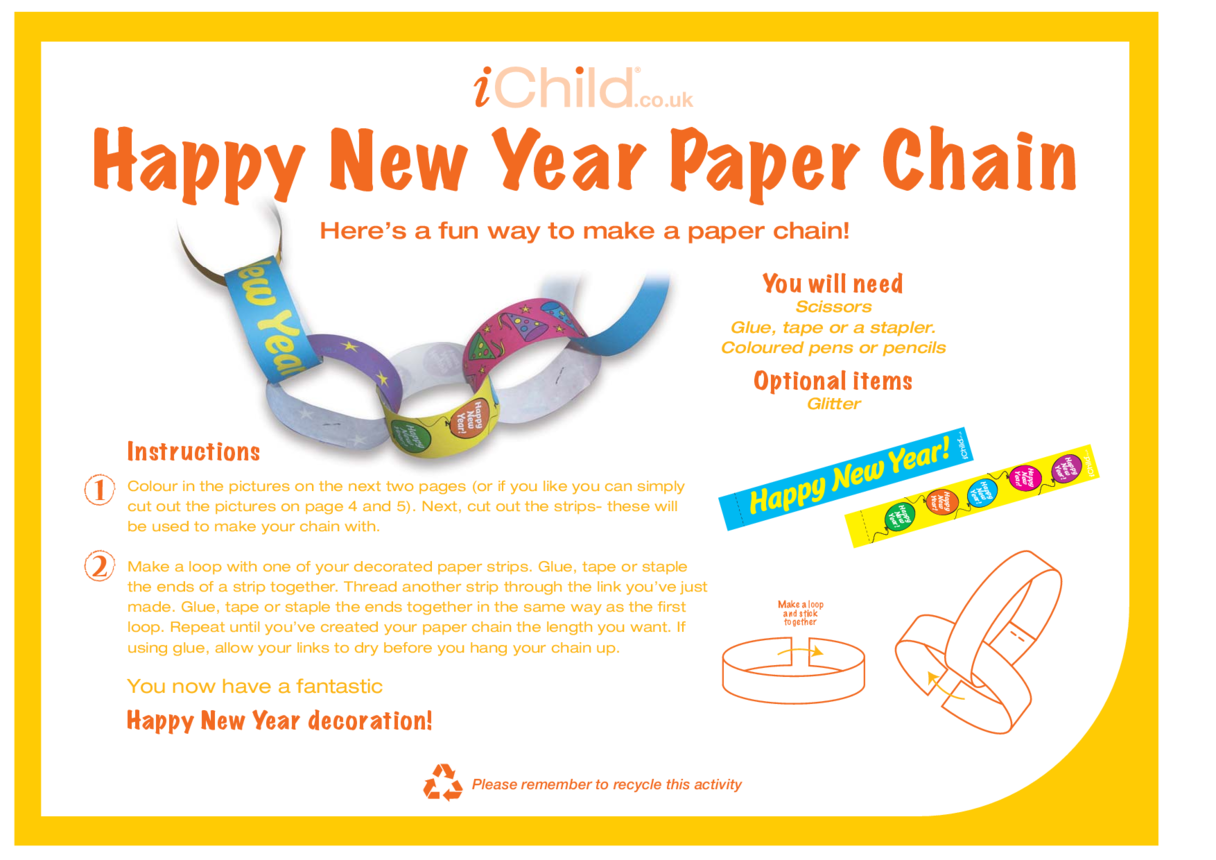 New Year Paper Chain