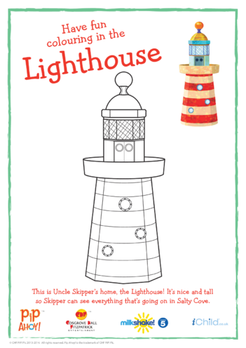 Thumbnail image for the Lighthouse Colouring In Picture (Pip Ahoy!) activity.
