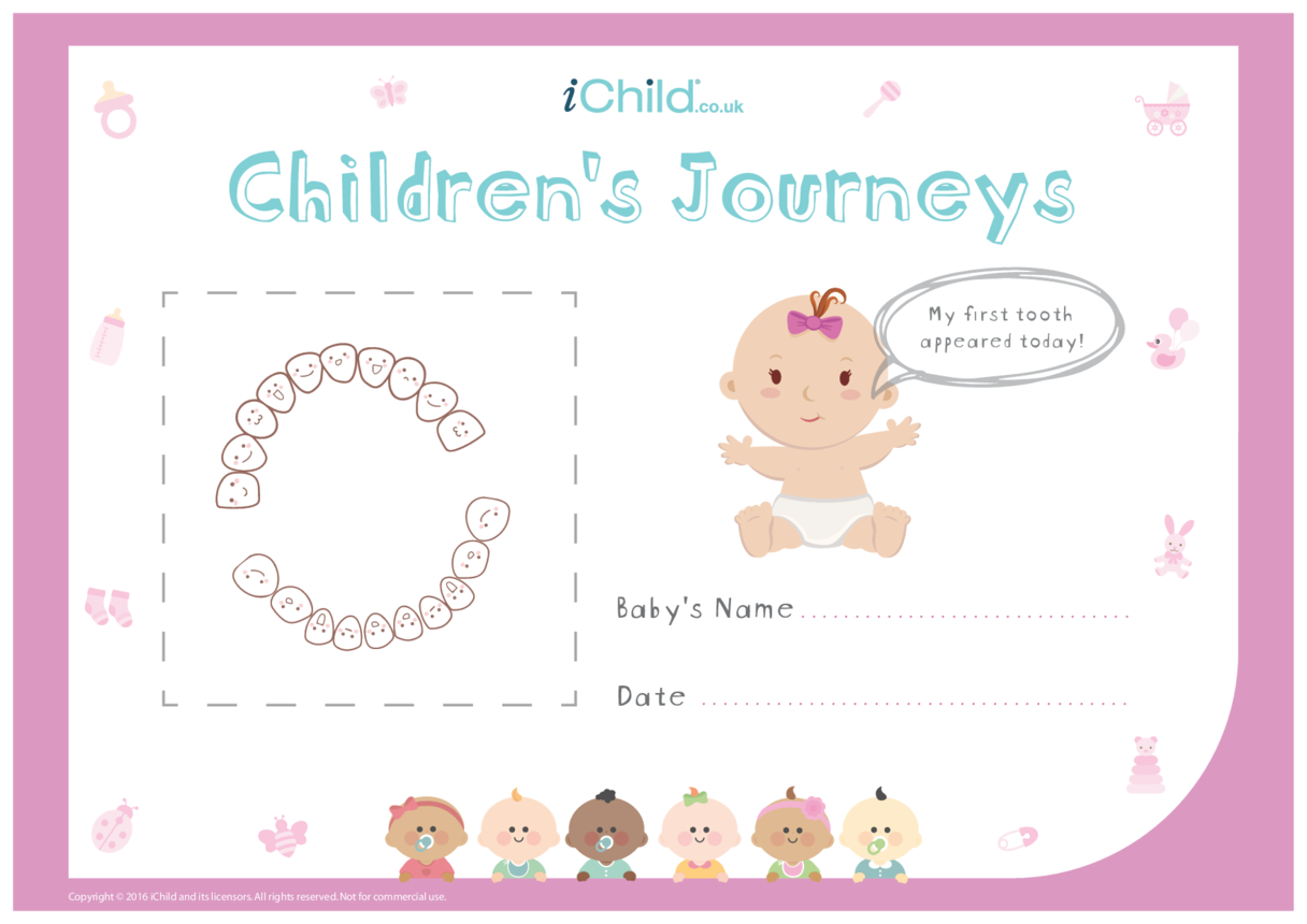 Children's Journeys: My First Tooth (pink form)