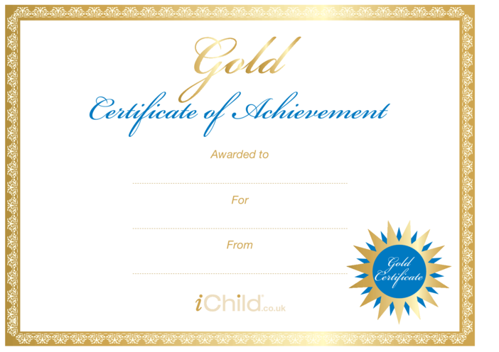 Thumbnail image for the Certificate - Gold activity.