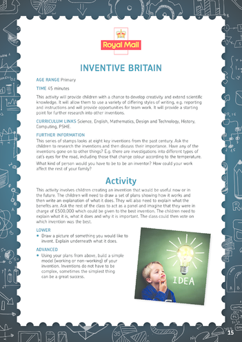 Thumbnail image for the Royal Mail iStamp Inventive Britain Lesson Plan activity.