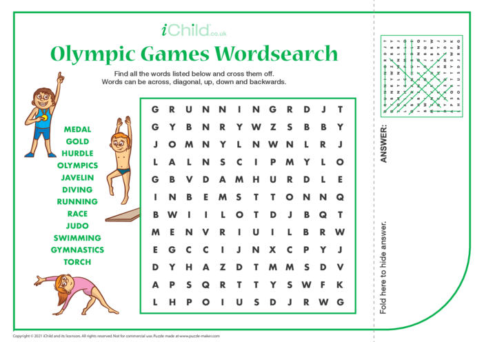Thumbnail image for the Olympics Wordsearch activity.