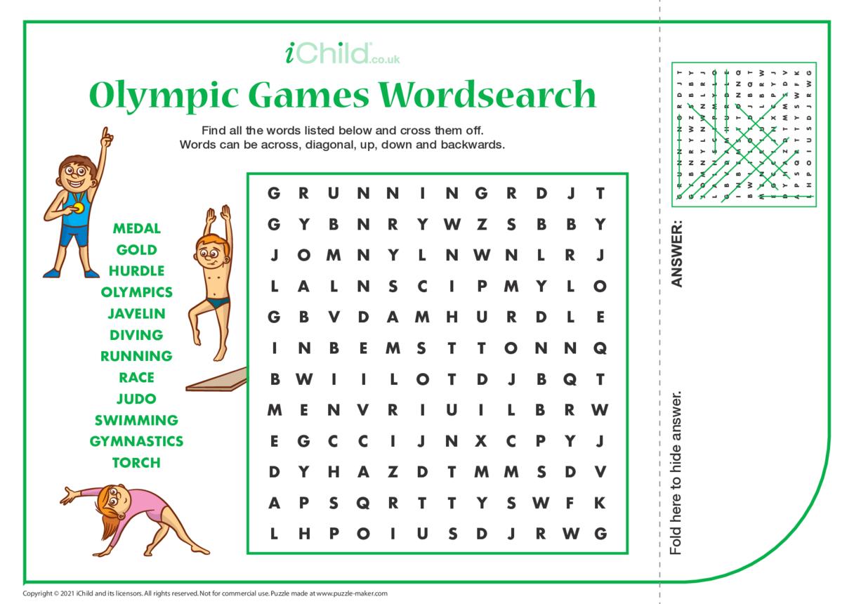 Olympics Wordsearch