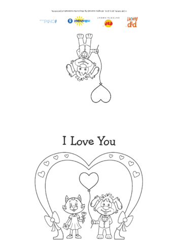 Thumbnail image for the I Love You Valentine's Day Card (Pip Ahoy!) activity.
