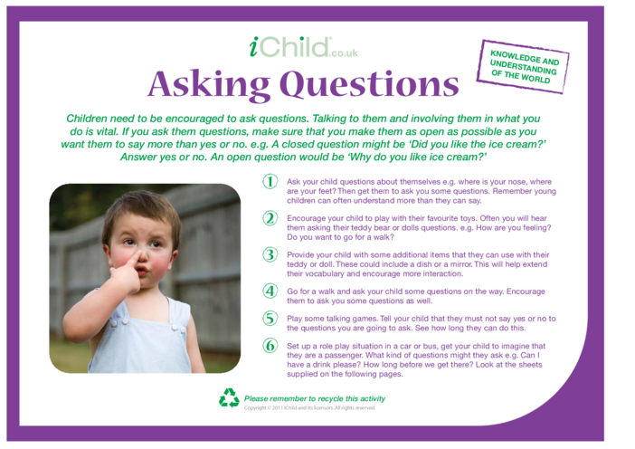 Thumbnail image for the Asking More Questions activity.