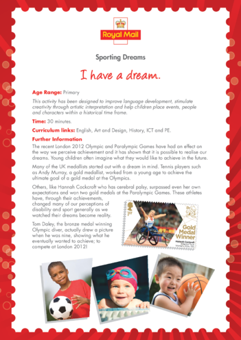 Thumbnail image for the Primary 1) I Have a Dream Lesson Plan activity.