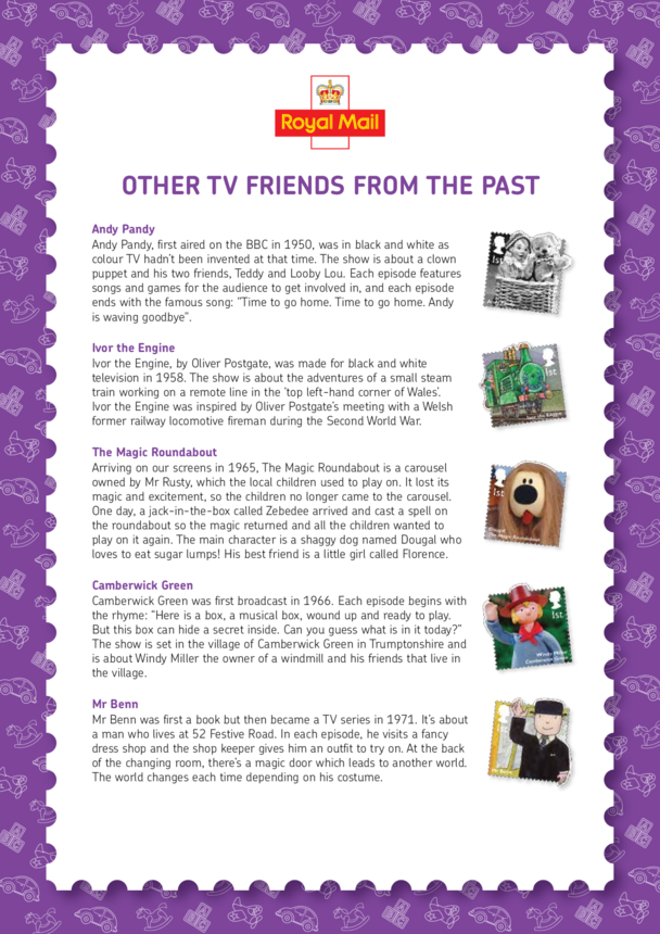 Other TV Friends From The Past Lesson Plan (EYFS/KS1)