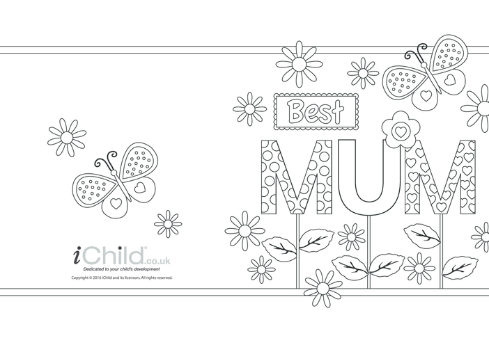 Thumbnail image for the Best Mum - Butterfly Card activity.