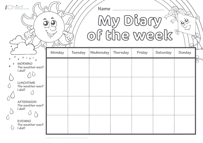 Thumbnail image for the Diary of the Week Chart activity.