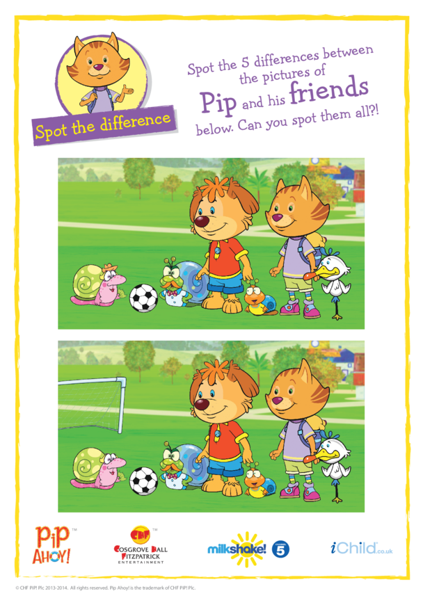 Spot the Difference- Football (Pip Ahoy!)