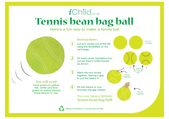 Thumbnail image for the Tennis Ball Beanbag activity.