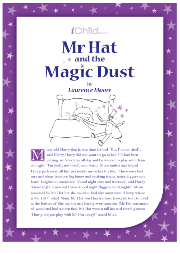 Thumbnail image for the Mr Hat and the Magic Dust activity.