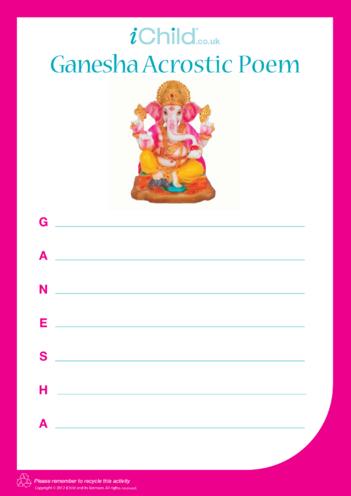 Thumbnail image for the Ganesha Acrostic Poem activity.