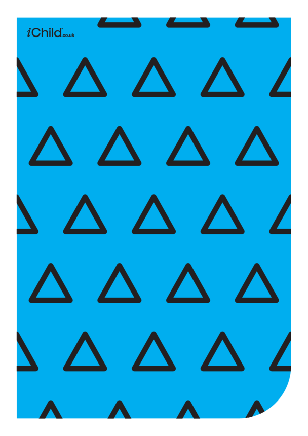 Contrasting Colours Poster: Triangle Pattern