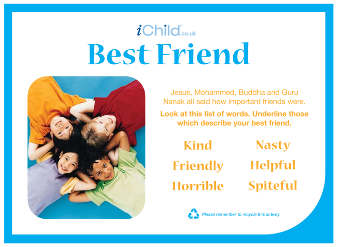 Thumbnail image for the Best Friend activity.