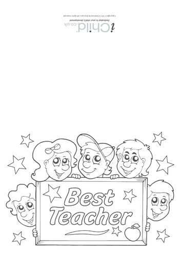 Thumbnail image for the Best Teacher Card activity.