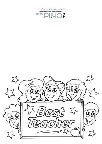 Thumbnail image for the Best Teacher Card activity.