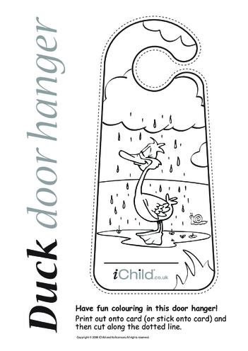 Thumbnail image for the Duck Door Hanger activity.